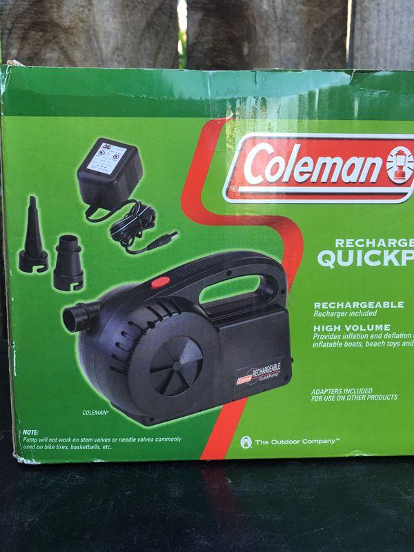 Coleman quick air pump camping inflatable mattress