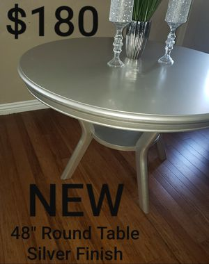 """48"""" Round Dining Table in Silver Finish for Sale in Ontario, CA"""