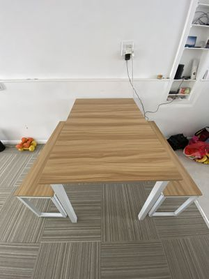 White/wood bench Table for Sale in Santa Monica, CA