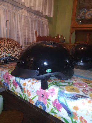 Dot half gloss black motorcycle helmet vented size small for Sale in Phoenix, AZ