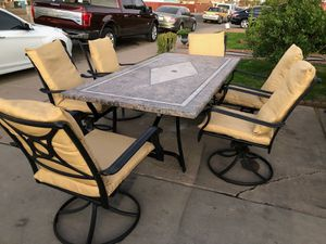 Patio furniture 7p new cushions for Sale in Phoenix, AZ