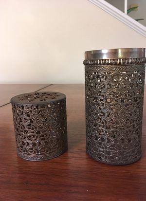 Metal decor container for desktop or kitchen for Sale in La Costa, CA