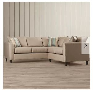 Sectional Couch:Beechcrest Home neutral color,pillow back for Sale in Denver, CO