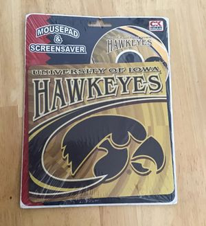 NEW Iowa Hawkeyes University of Iowa Mouse Pad & Screensaver décor for Sale in Bondurant, IA