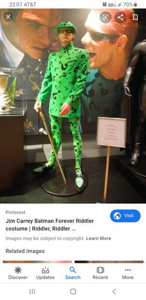 batman forever riddler costume zise L / xL for Sale in El Cajon, CA
