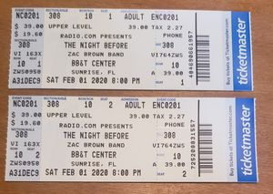 Zac Brown Band Tickets for Sale in Cape Coral, FL