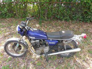 1974 Yamaha TX500 motorcycle bike bobber cafe racer 19k miles, not running motor turns for Sale in HALNDLE BCH, FL
