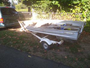 12' sea king Aluminum boat +trailer for Sale in Portland, OR