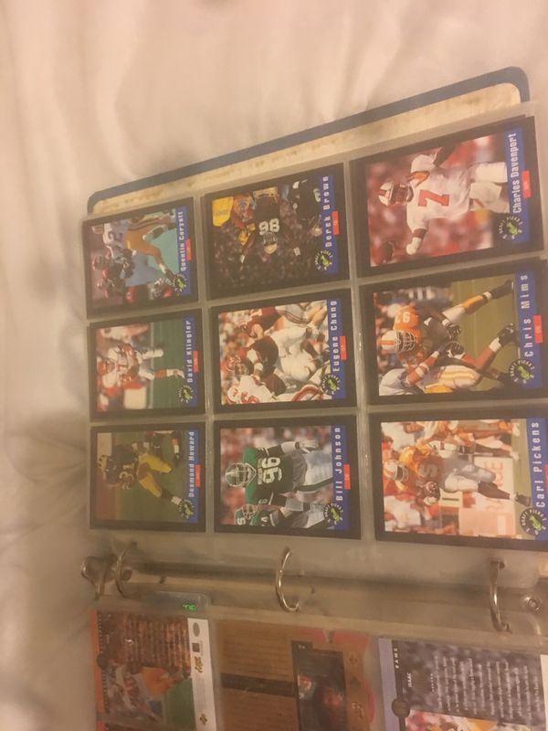 Football, basketball, hockey, and baseball cards