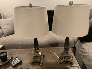 2 lamps clean shades for Sale in Denver, CO