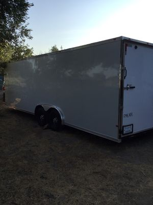 Brand new used only once. Trailer 24 foot 9,000 firm double axle 10k (YES IT IS STILL AVAILABLE) for Sale in Wildomar, CA