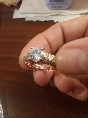 Beautiful Rose Gold Plated CZ Ring for Sale in The Bronx, NY