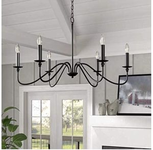 Saint Mossi 6-Lights Black Painted Chandelier Lighting 33 inches Length for Sale in Las Vegas, NV