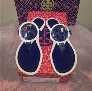 Tory Burch Leather Miller Fringe Sandals for Sale in DeBary, FL