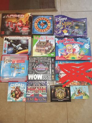 Kids board games puzzles knex disney educational family fun for Sale in Phoenix, AZ