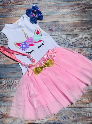 NEW unicorn tutu set perfect for Birthday parties for Sale in South Bend, IN