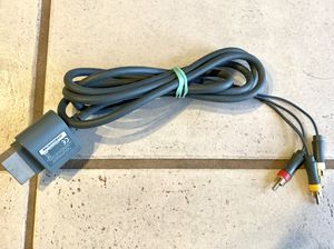 Xbox 360 Standard Composite AV Cable 6ft Gold Plated Audio Video Cord for Sale in El Cajon, CA