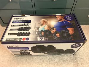 Brand new Vivitar adjustable dumbbell complete weight training set 45LB total weight for Sale in Arcadia, CA
