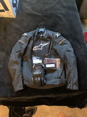 Alpinestars Jacket and Gloves for Sale in Seal Beach, CA
