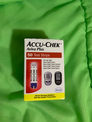 Accu check Aviva plus, 50 test strips for Sale in Long Beach, CA