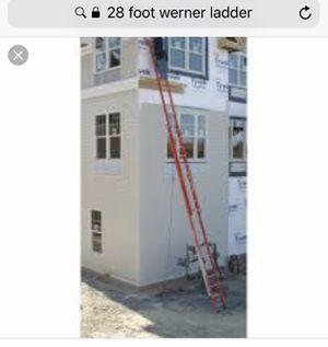 28 foot Werner extension ladder 300 lb capacity for Sale in Las Vegas, NV