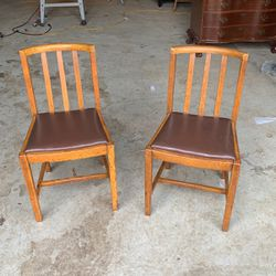 Solid Oak MCM chairs for Sale in Dayton,  OR