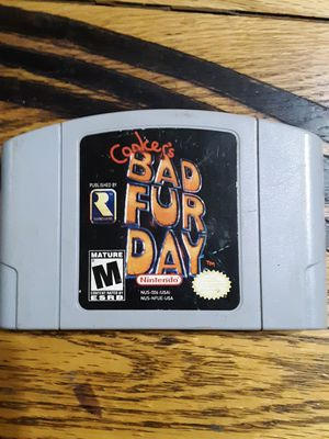 Conkers bad fur day Nintendo 64 for Sale in Snohomish, WA
