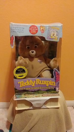 Teddy Ruxpin it comes with original box and has one tape but the book is missing it still works for all that I want $400 for Sale in Los Angeles, CA