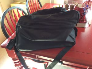 Black Leather duffle. Good condition. Many possible uses for Sale in Tacoma, WA