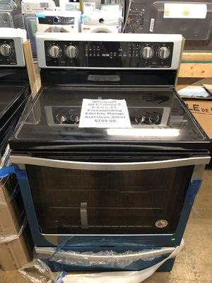 Whirlpool electric range with manufacturers warranty!!! for Sale in New Lenox, IL