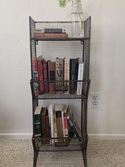 Wire Bookcase/Three Tier Wall Mountable Shelf for Sale in Santa Clarita,  CA