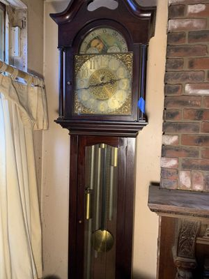 Antique stunning German grandfather clock 5 tube needs a good cleaning. sold as is for Sale in Philadelphia, PA