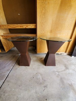Glass side tables for Sale in Arvada, CO