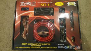 Absolute 2000 Watts complete amplifier wiring kit for Sale in Beverly Hills, CA