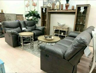 Boxberg Teak Reclining Living Room Set 🔆 Sofa and Loveseat for Sale in Round Rock,  TX