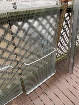 Full glass shower sliding door set like new for Sale in Lawrence, MA