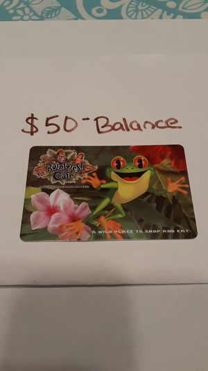RAIN FOREST CAFE / LANDRY'S CARD $50 balance SAVE $10 for Sale in Fort Lauderdale, FL