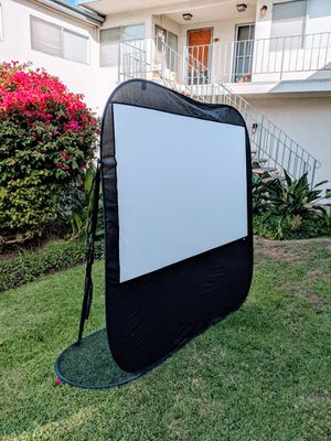 (last one!) Good for backyard and camping! 84 inch (16:9) portable projector screen for outside! for Sale in Torrance, CA