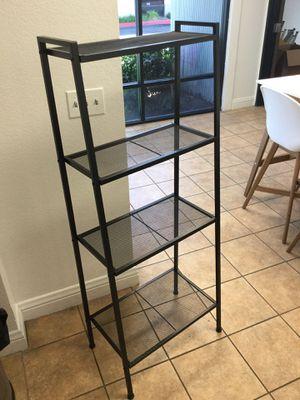 4-Shelf Metal Ladder Book Shelf Open Bookcase Black for Sale in Chino, CA