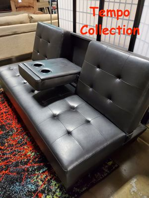 NEW, Futon with Cupholders, Black, SKU# 7502-M for Sale in Santa Ana, CA