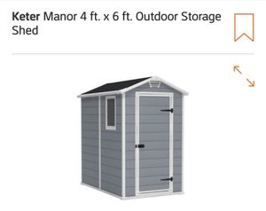 KETER MANOR 4ft. X 6ft. OUTDOOR STORAGE SHED for Sale in East Brunswick, NJ