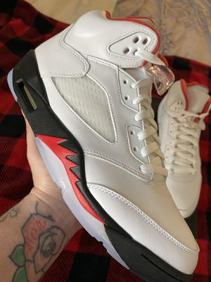 JORDAN 5 FIRE RED BRAND NEW MENS SIZE 9.5 OG EVERYTHING INCLUDING RECEIPT for Sale in Phoenix, AZ