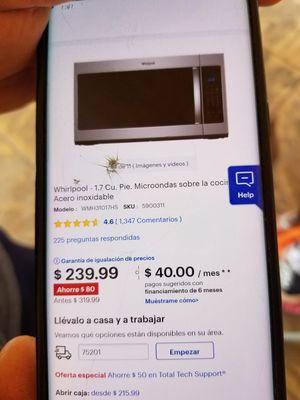 Microondas totalmente nuevo/New Microwave totally new for Sale in Grand Prairie, TX