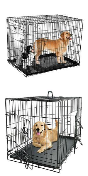 New in box 48x30x32 inches tall large 2 doors foldable dog cage crate kennel for pet up to 100 lbs for Sale in Pico Rivera, CA