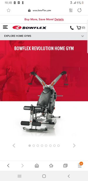 BOWFLEX REVOLUTION HOME GYM W/ ACCESSORY RACK + 100# OF RESISTANCE for Sale in Monterey Park, CA