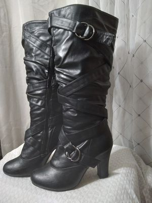 Black Pleather Boots 6 1/2 for Sale in Federal Way, WA