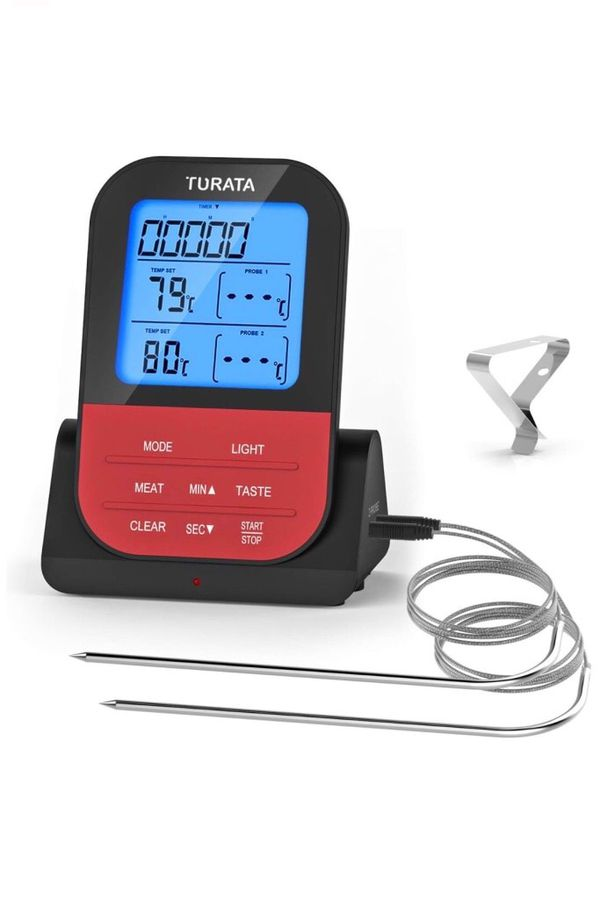 Brand-new!!! Meat Thermometer, Remote Digital Wireless Food Thermometer with Dual Probe for Kitchen Smoker BBQ Grill Thermometer