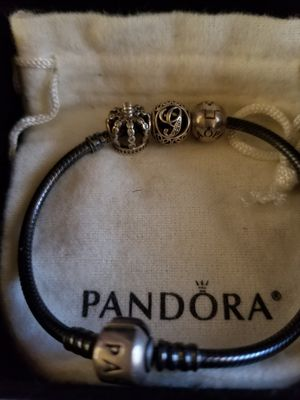 Authentic Pandora bracelet w/2 charms & 1 clip for Sale in Fort Washington, MD