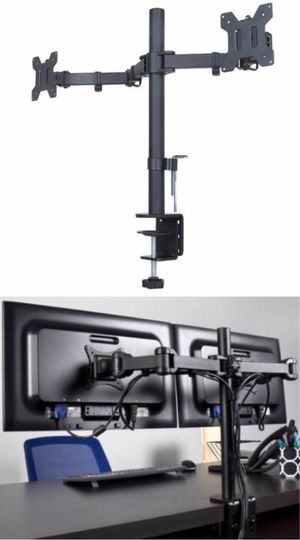 New in box 10 to 24 inches dual computer screen monitor holder stand clamp mount for Sale in West Covina, CA