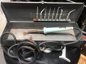 Weller industrial soldering iron w/ 9 tips and case- works perfect for Sale in Bradenton, FL